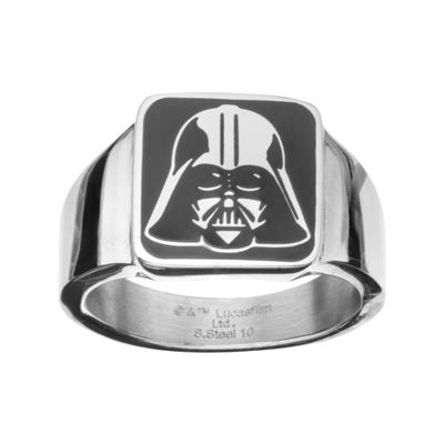 Star Wars® Stainless Steel Darth Vader Square Top Ring