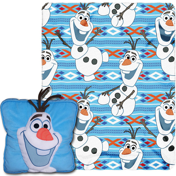 Disney Frozen Olaf Throw and Pillow Set