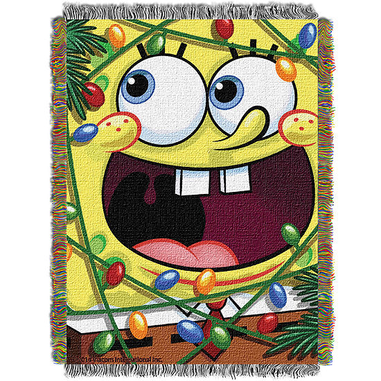 SpongeBob SquarePants Holiday Tapestry Throw