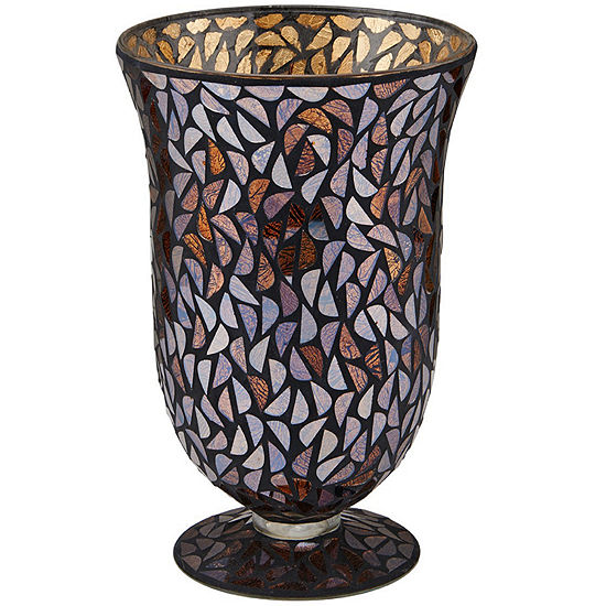 Glass Mosaic Bell Vase