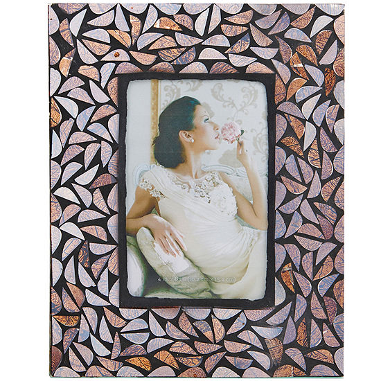 """Elements® Glass Mosaic 4x6"""" Picture Frame"""