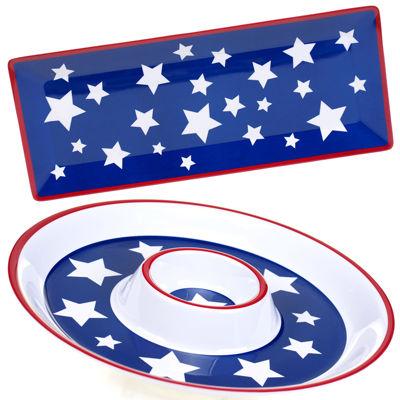 Certified International Stars & Stripes 2-pc. Melamine Appetizer Set