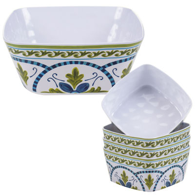 Certified International Blue Grotto 5-pc. Salad and Serving Bowl Set
