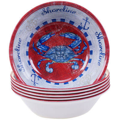 Certified International Maritime Set of 6 Melamine All-Purpose Bowls