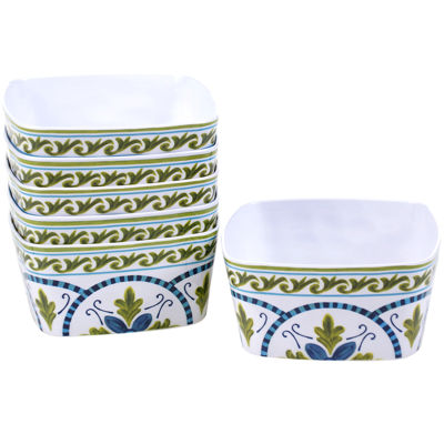 Certified International Blue Grotto Set of 6 Melamine Ice Cream Bowls