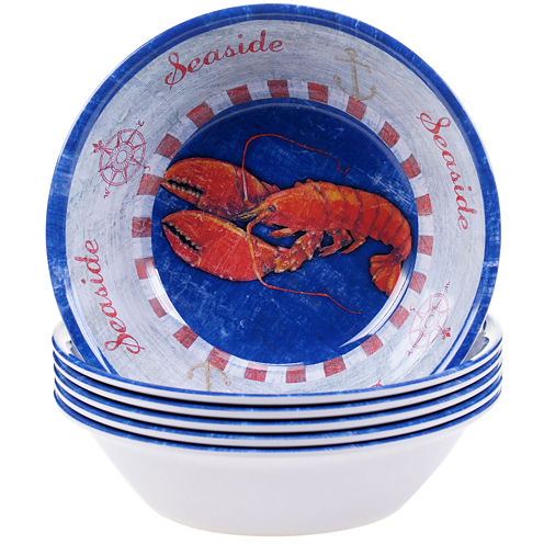 Certified International Maritime Set of 6 Melamine All Purpose Bowls