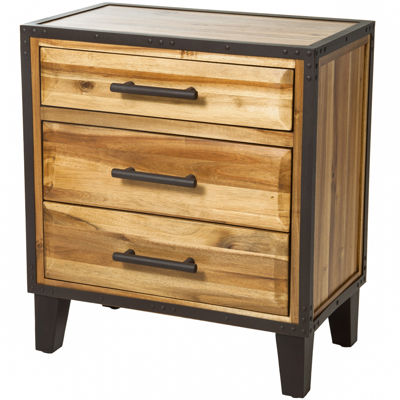 Christopher Knight Home Luna Acacia Wood 3-Drawer Chest