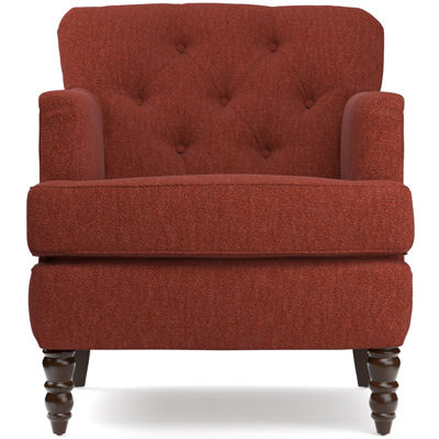 Elm Sangria Red Tufted Accent Chair