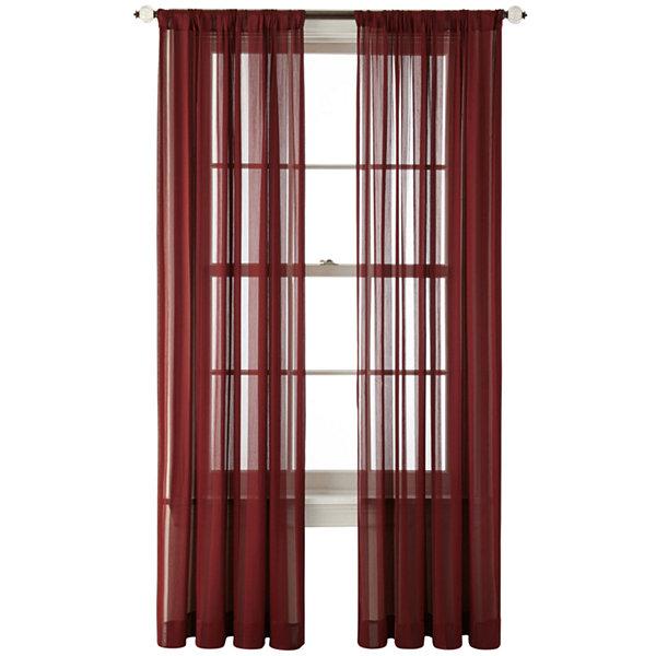 Royal Velvet Cherise Rod Pocket Sheer Panel