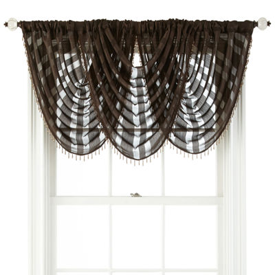 Royal Velvet® Cherise Rod-Pocket Sheer Waterfall Valance