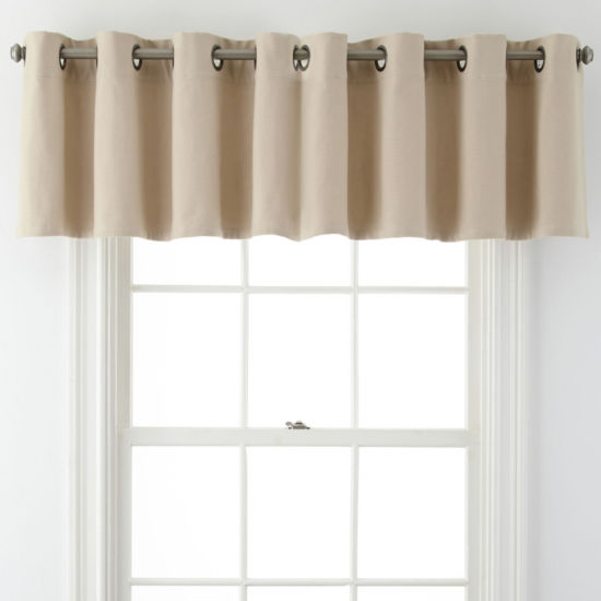 JCPenney Home™ Pembroke Grommet-Top Tailored Valance