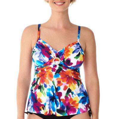 St. John's Bay Floral Tankini Swimsuit Top