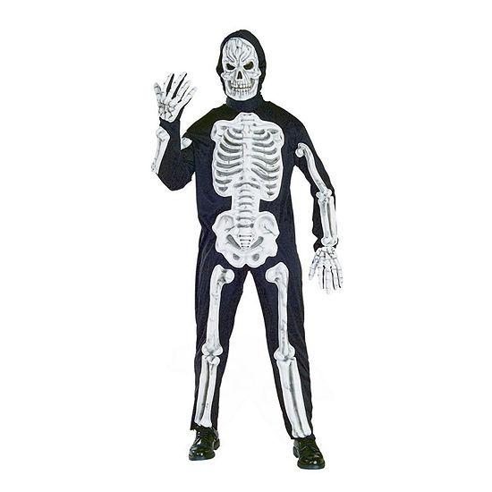Adult Molded Bones Skeleton Costume