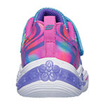 Skechers Power Petals Hook and Loop Sneakers Toddler Girls