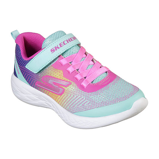 Skechers Go Run 600 Little Kids Girls Hook and Loop Sneakers
