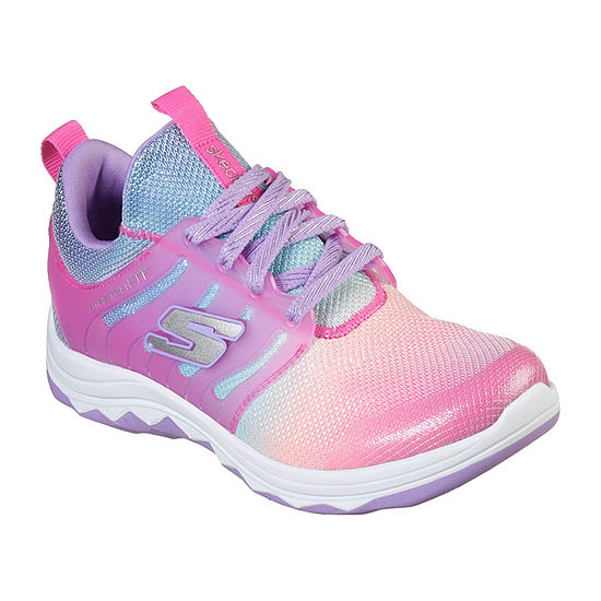 Skechers Diamond Runner Little Kids Girls Lace-up Sneakers
