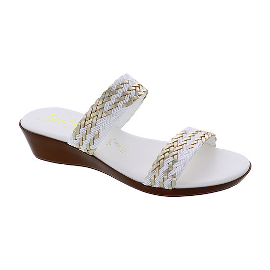 Italiana By Italian Shoemakers Womens Kelly Slide Sandals