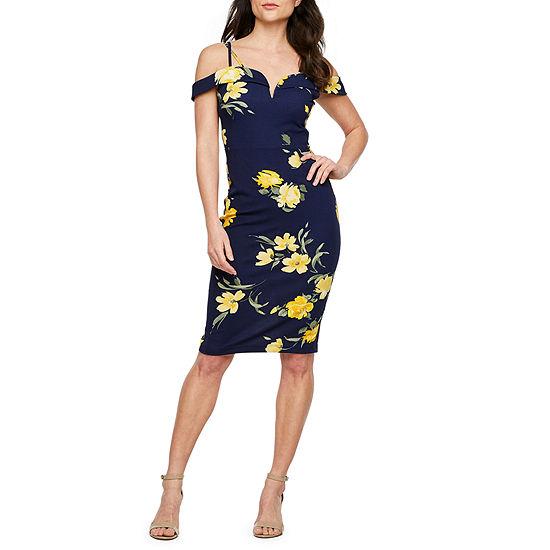 e46fdf82 Premier Amour Short Sleeve Cold Shoulder Floral Sheath Dress - JCPenney