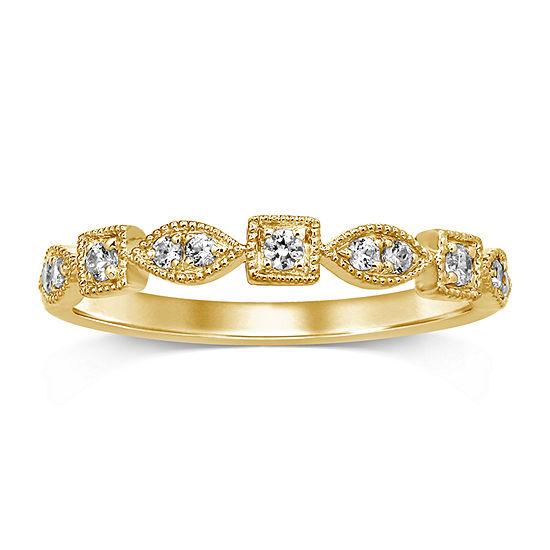 1/6 CT. T.W. Genuine White Diamond 10K Gold Band
