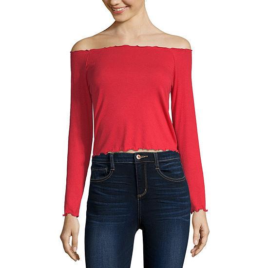 Arizona-Straight Neck Long Sleeve T-Shirt Junior