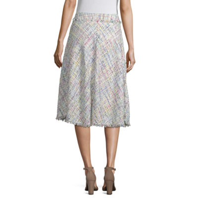 Worthington Womens Midi A-Line Skirt