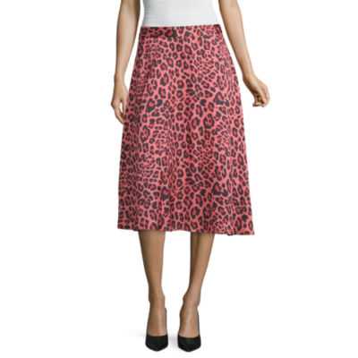 Worthington Womens Midi Asymmetrical Skirt