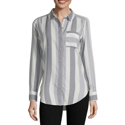 Liz Claiborne Simply Liz Spring 2019 Womens Long Sleeve Tunic Top