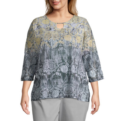 Alfred Dunner Native New Yorker Medallion Ombre T-Shirt - Plus