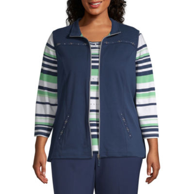 Alfred Dunner Cote D'Azur Quilted Vest - Plus