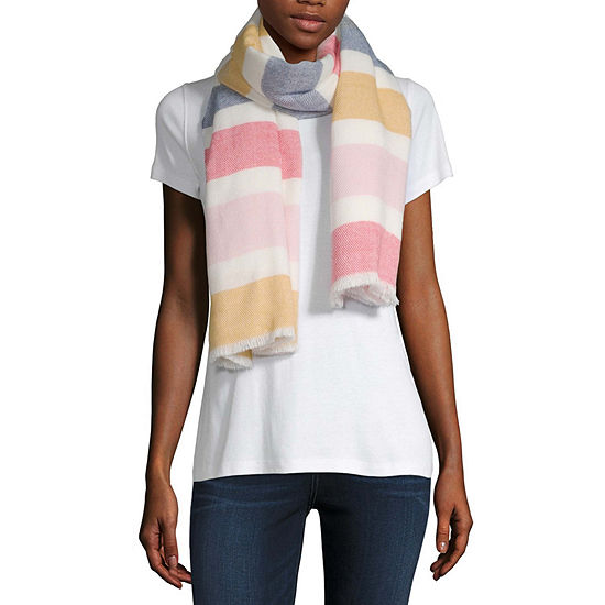 Peyton & Parker Oblong Striped Scarf