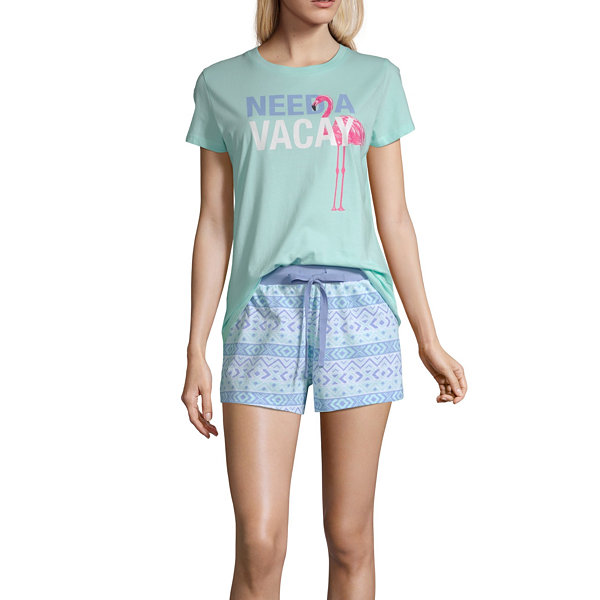 Peace Love And Dreams Womens 2-pc. Mommy And Me Shorts Pajama Set