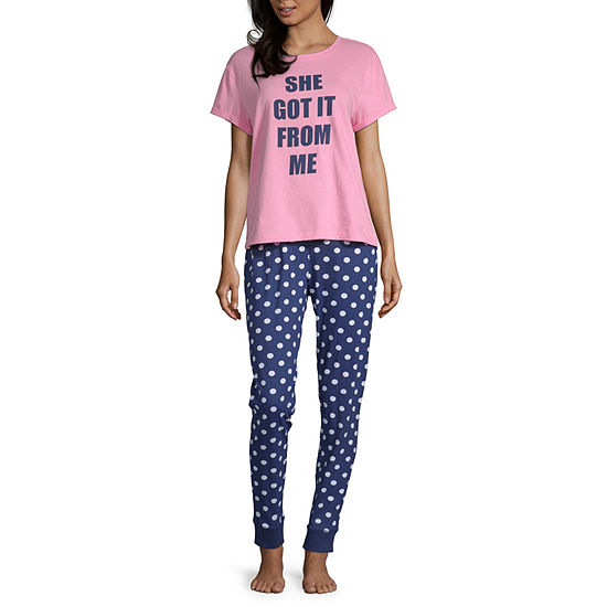 Peace Love And Dreams Womens 2-pc.Mommy and Me Pant Pajama Set