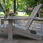 Outdoor Interiors Grey Wash Eucalyptus Adirondack 3-pc. Conversation Set