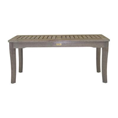 Outdoor Interiors Grey Wash Eucalyptus Patio Coffee Table