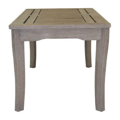 Outdoor Interiors Grey Wash Eucalyptus Patio Side Table