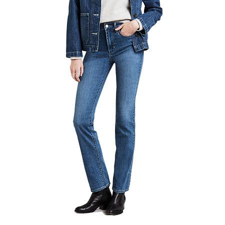 Levi's Womens High Rise 724 Straight Leg Jean, 27 , Blue