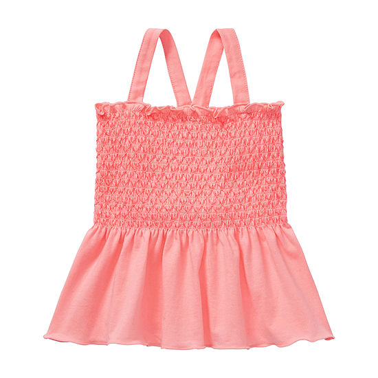Okie Dokie Toddler Girls Square Neck Tank Top