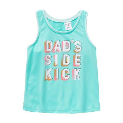 Okie Dokie - Toddler Girls Round Neck Tank Top