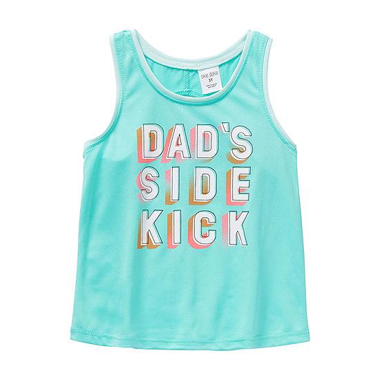 Okie Dokie Toddler Girls Round Neck Tank Top