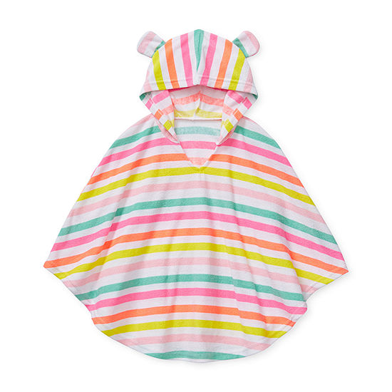 Okie Dokie-Toddler Girls Striped Swimsuit Cover-Up Dress