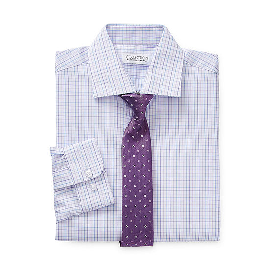Collection by Michael Strahan Little & Big Boys Spread Collar Long Sleeve Shirt + Tie Set