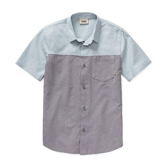 Vans Little & Big Boys Short Sleeve Button-Down Shirt
