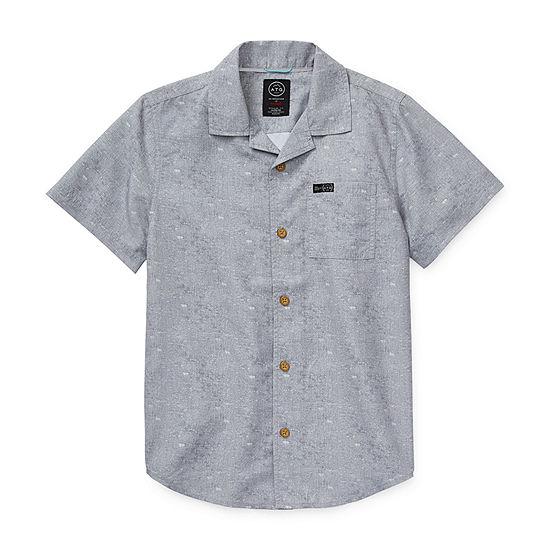 Wrangler Big Boys Short Sleeve Button-Down Shirt