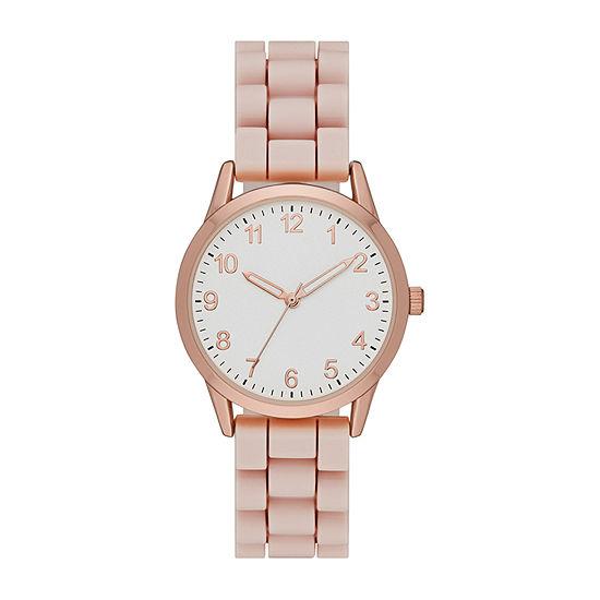 Womens Pink Strap Watch-Fmdjo172