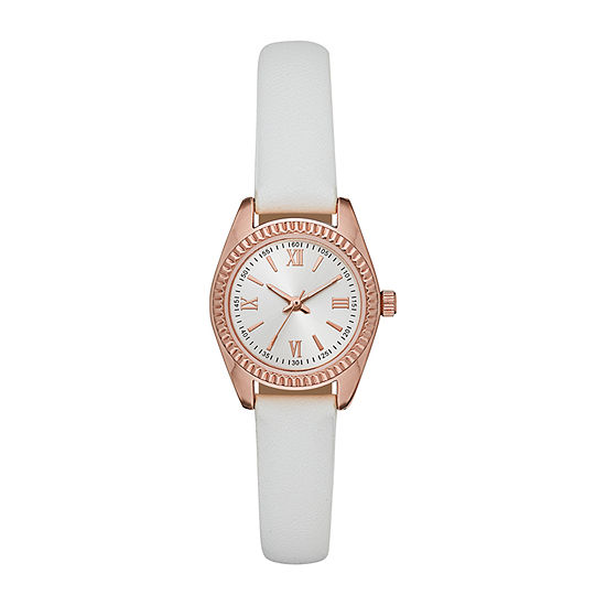 Womens White Strap Watch-Fmdjo175