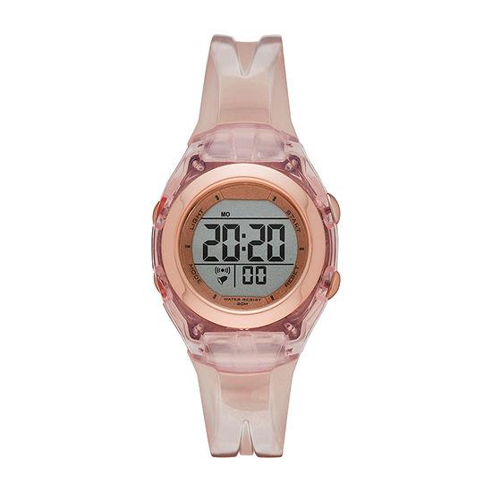Womens Digital Pink Strap Watch-Fmdjo177