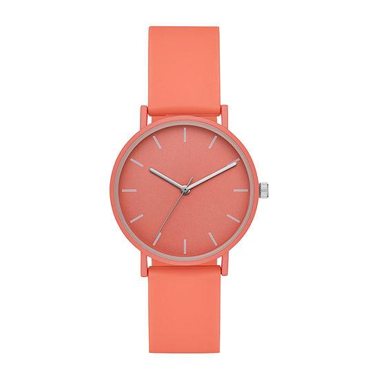 Womens Orange Strap Watch-Fmdjo181