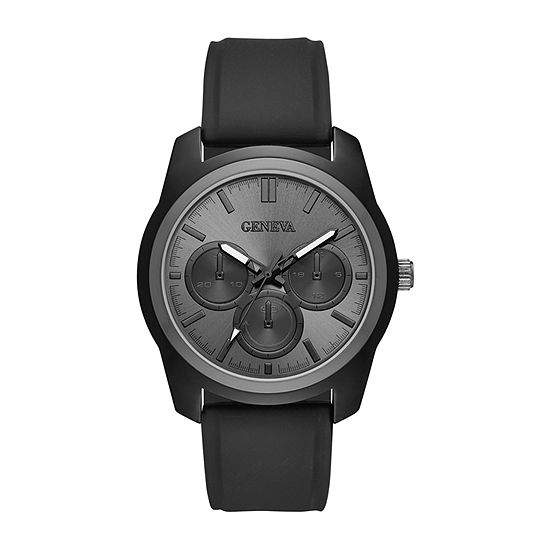 Geneva Mens Black Strap Watch-Fmdjm612