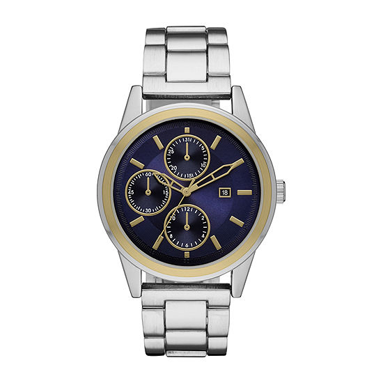 Geneva Mens Silver Tone Bracelet Watch - Fmdjm613