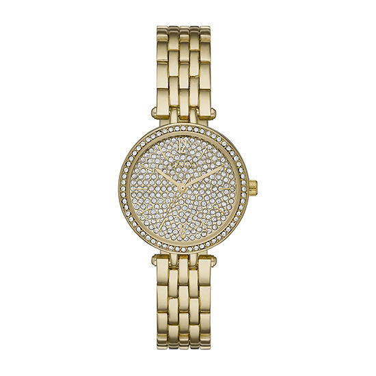 Geneva Womens Crystal Accent Gold Tone Bracelet Watch - Fmdjm212